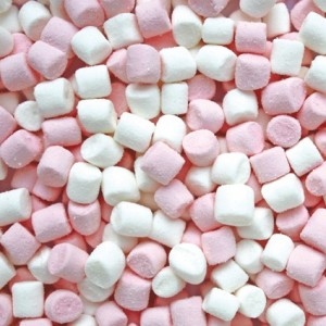 Mini Mallows Wit-Roos 1kg (3g) Haribo