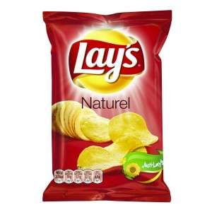 Lays Chips Naturel (Zout) 20 x 40g