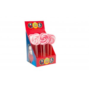 Lolly Spiraal Roos-Wit 17 x 80g