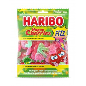 Happy Cherries Fizz (Zure Kersen) 28 x 70g Haribo